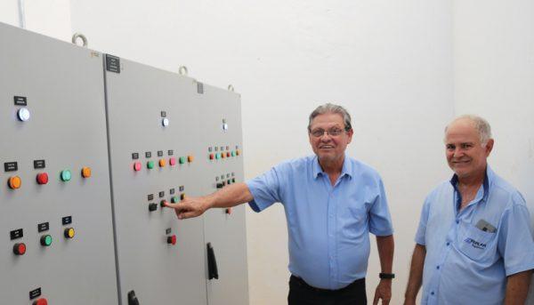 Herrera visita Estação de Tratamento de Esgoto do Pombo